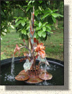 Model Seven: Small copper orchid fountain