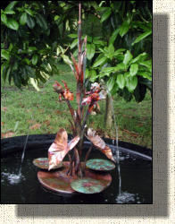 Model Eight: Small copper iris fountain