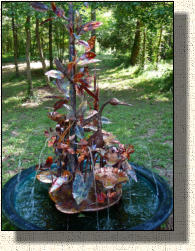 Model Five: Magnolia tree copper fountain with heron
